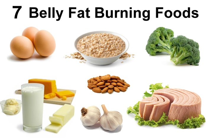 7 belly fat burning foods to lose belly fat by dieting.