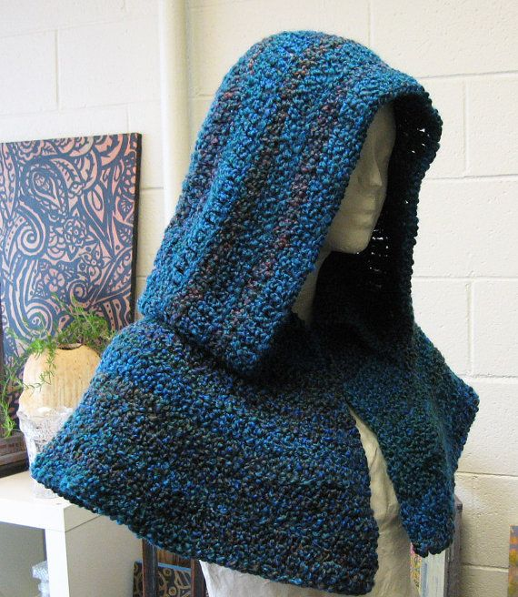 Medieval Hood with Cape Capelet with Hood Deep by TheMysticWood