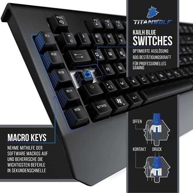 Wir stellen vor die Enforcer unsere neue Titanwolf Tastatur mit Makrotasten und …