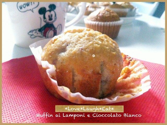 muffin lampone e cioccolato bianco