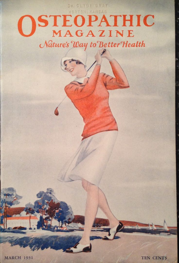 Osteopathic Magazine March 1931 Lady Golfer Cover