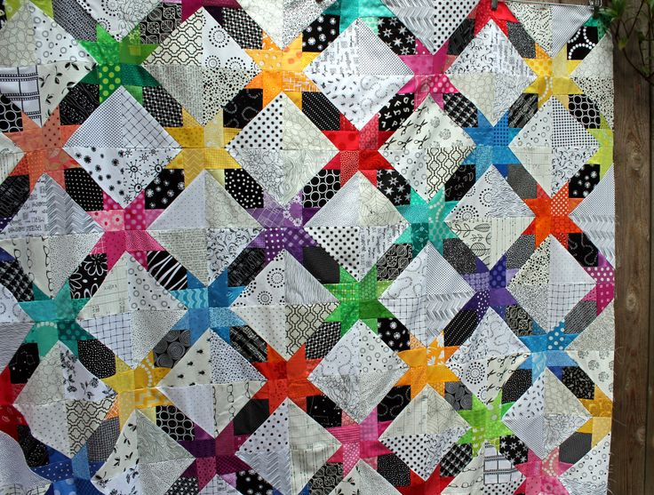 Star String quilt top finished