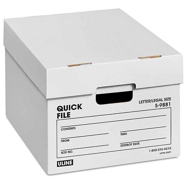 Quick File Storage Boxes 15 X 12 X 10 S 9881 Uline In 2020 Storage Boxes File Storage Storage