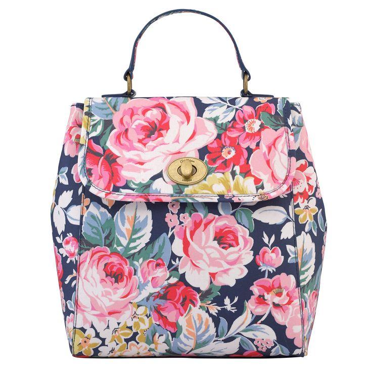 Greenwich Rose Turnlock Backpack | Cath Kidston |