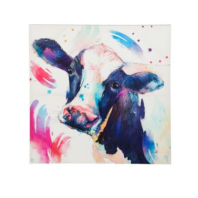 You'll love the Watercolor Cow Painting Print on Canvas at Wayfair - Great Deals on all Décor  products with Free Shipping on most stuff, even the big stuff.