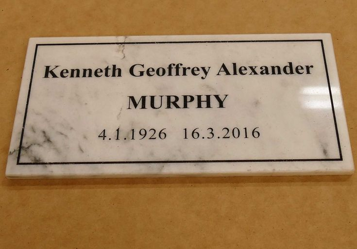 Marble memorial plaque example white engraved with black fill On receipt of order layout is prepared and emailed for your approval