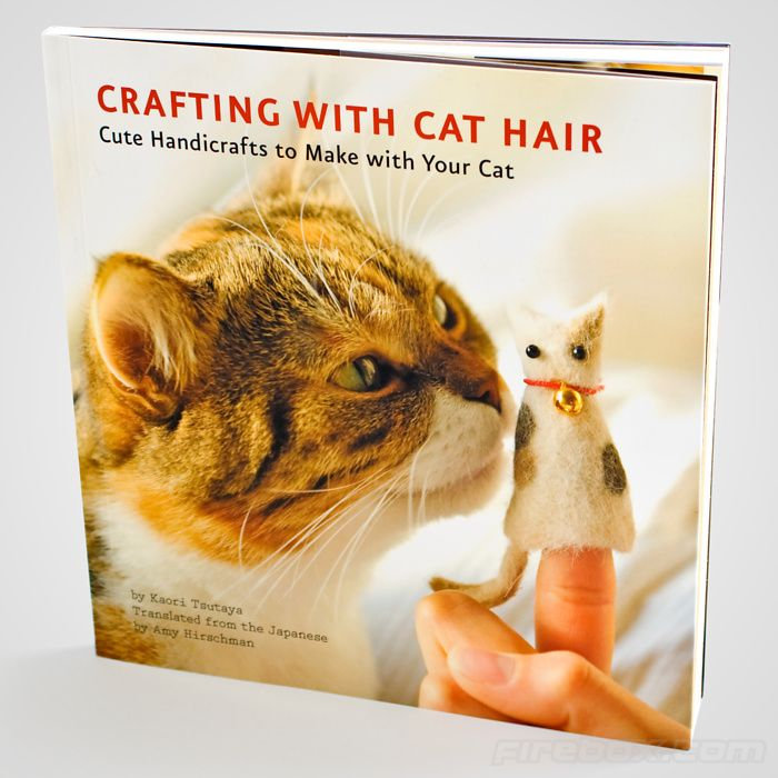 """""""Crafting With Cat Hair"""". Aggh! (I am trying to figure out why we freak out at the thought of this. Wool, rabbit fur, cashmere goat hair don't freak us out...cat hair is a plentiful resource for many. I think it's just the Crazy Cat Lady connotations! :P)"""