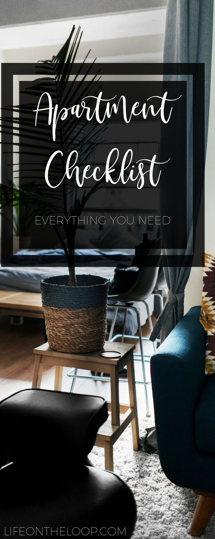 Furnishing Your First Apartment Apartment Checklist First Apartment Apartment Decor
