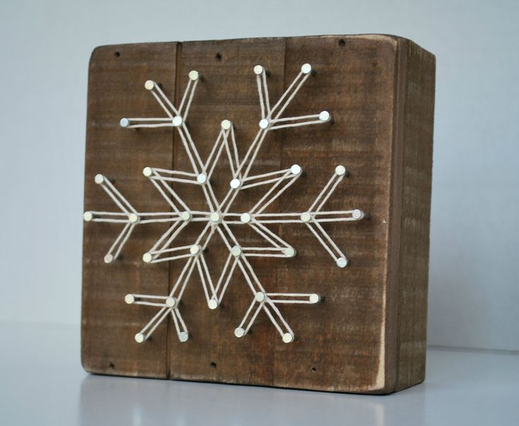 "Who doesn't love the beauty of a snowflake? This snowflake measures 4.5"" square and fits in with any decor. Perfect for Winter and Christmas."
