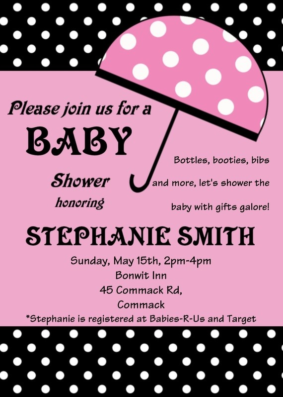 8 best pink brown baby shower images on pinterest baby showers umbrella baby shower invitation boy girl by cutiestiedyeboutique 1500 negle Images