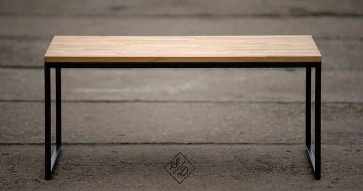 coffee table, wood, steel