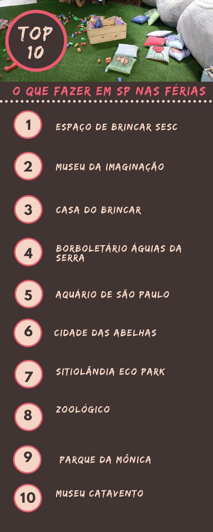 91aac9419cedc São Paulo com crianças  12 lugares para levar os filhos nas férias    Pinterest