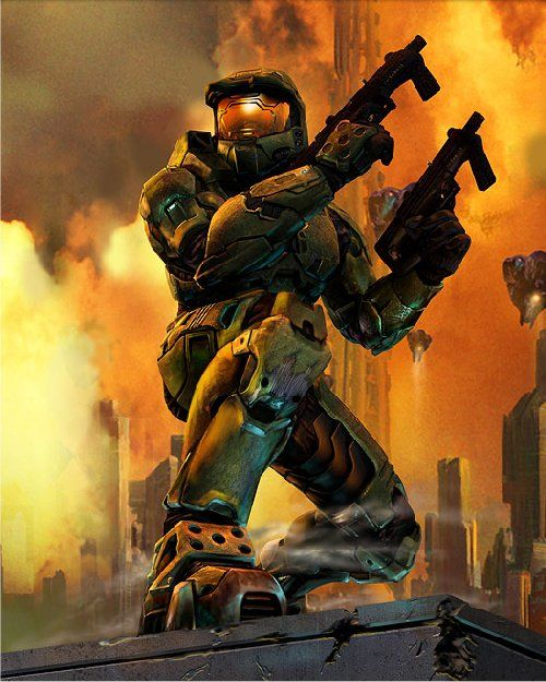 The Master Chief   (I am having a similar pose of the Master Chief tattooed on my R outer calf, once I get the $ together)