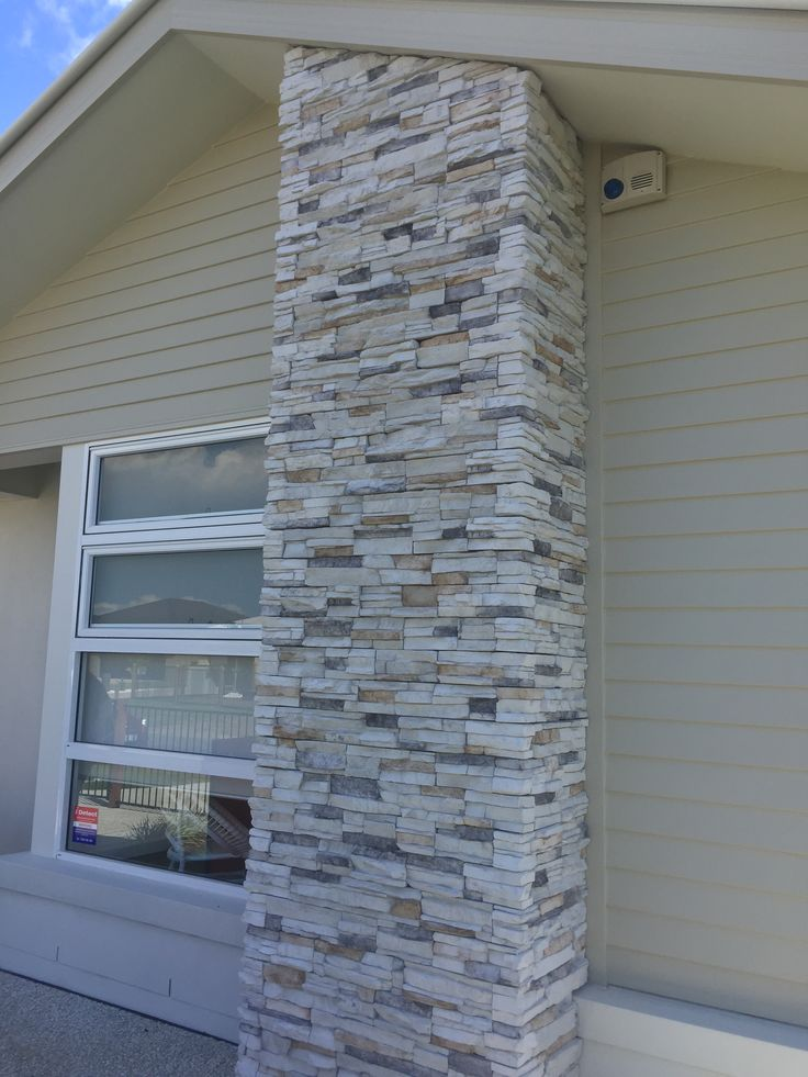 55 best images about exterior colours on pinterest grey for Stacked stone house