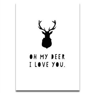 Oh My Deer I Love You by SS Print Shop   Prints/Wall Art Gifts   chapters.indigo.ca