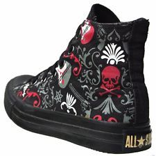 CONVERSE SCHUHE ALL STAR CHUCKS EU 36 UK 3,5 SKULL VINTAGE LIMITED EDITION 1W213
