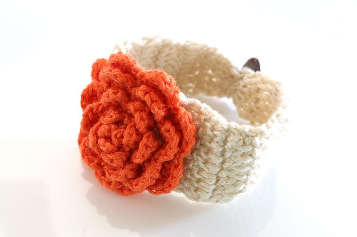 The May ~ Crochet Flower Bracelet