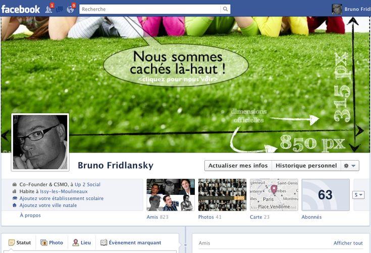 Bravo Bruno Fridlansky ! @up2social Les dimensions cachées de la couverture le la TimeLine Facebook