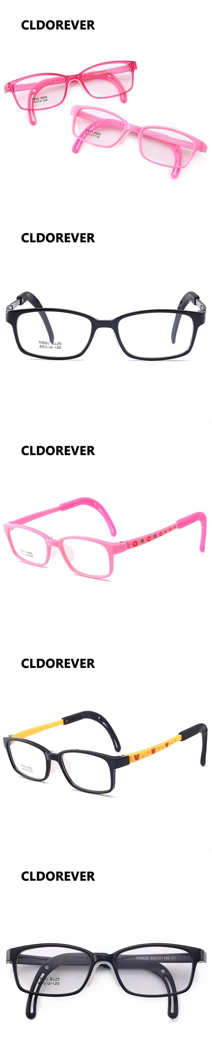 Cute TR90 Flexible Kids Glasses Frames Boy Girl Square Eyeglasses Children Urltra-Light Eyewear Optical Spectacle Eye Glasses