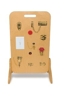 Fine motor board... Try clothes. Zipper, buttons, snaps, ties, belt, shoe string, velcro, bow, helmet buckle