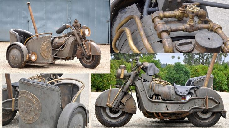 #Steampunk meets Roman chariot in unique #Honda Goldwing custom #bike