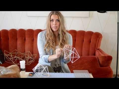 ▶ How To Make A Geometric Himmeli Wreath - YouTube
