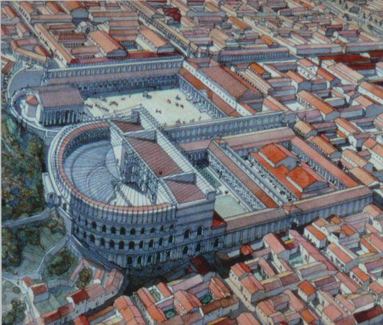 Roman Theatre of Orange, France (artistic reconstruction)