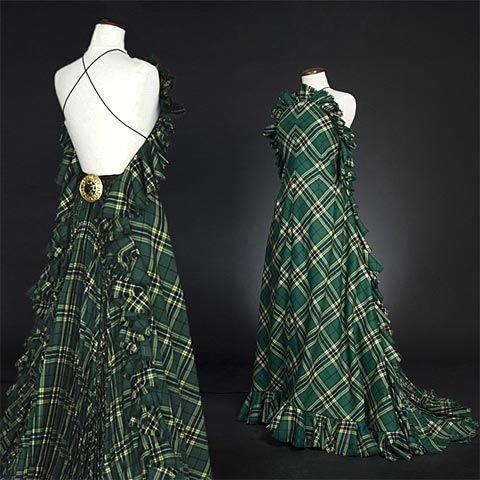 Provincial ballgown! #alberta #green #tartan