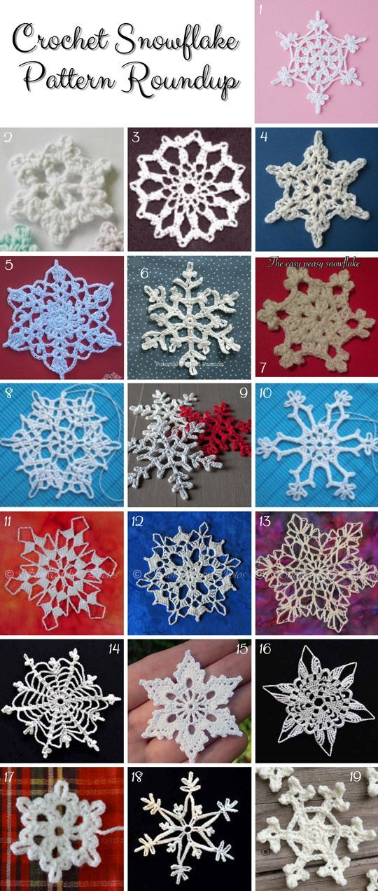 Weekend Pinspiration: Crochet Snowflake Pattern Roundup