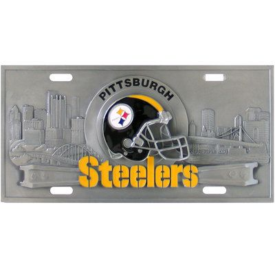 Pittsburgh Steelers~ 3D License Plate