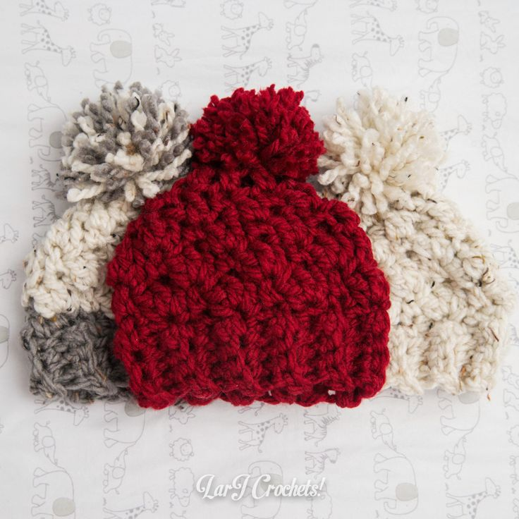 LarJ Crochets!: My New Favorite Thing: Chunky Newborn Hats!