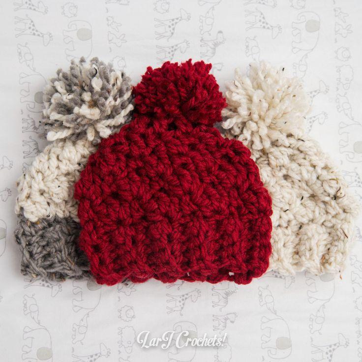 LarJ Crochets!: My New Favorite Thing: Chunky Newborn Hats!
