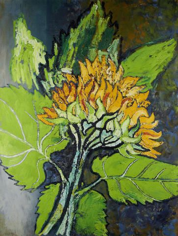 John Bratby R.A. (British, 1928-1992) Sunflower