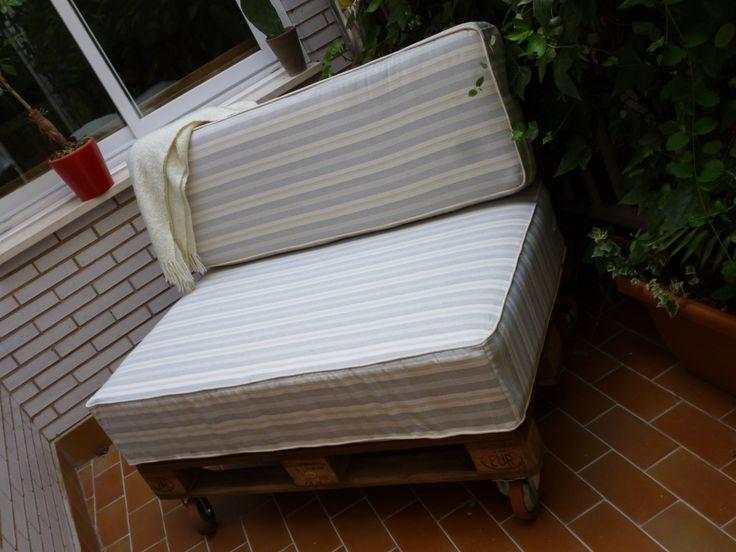 Sofá + terraza = un feliz verano.