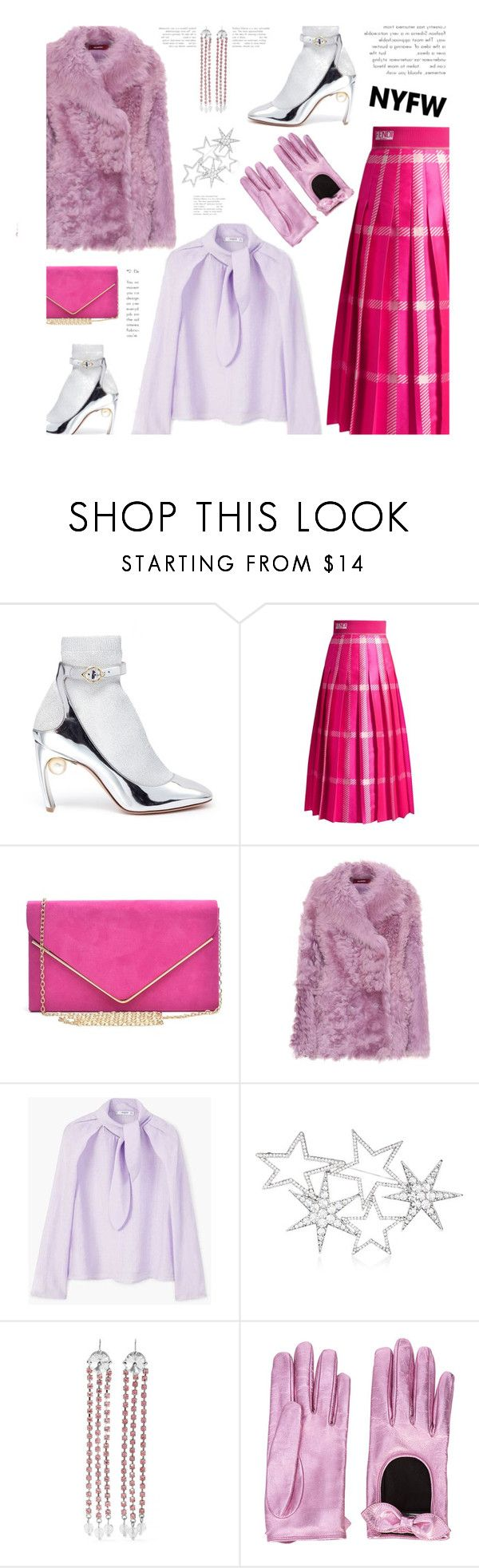 """""""NYFW Trend Spotting: Hot Pink"""" by dianefantasy ❤ liked on Polyvore featuring Nicholas Kirkwood, Fendi, Sies Marjan, MANGO, Love Rocks, Miu Miu, Gucci, contestentry and NYFWHotPink"""