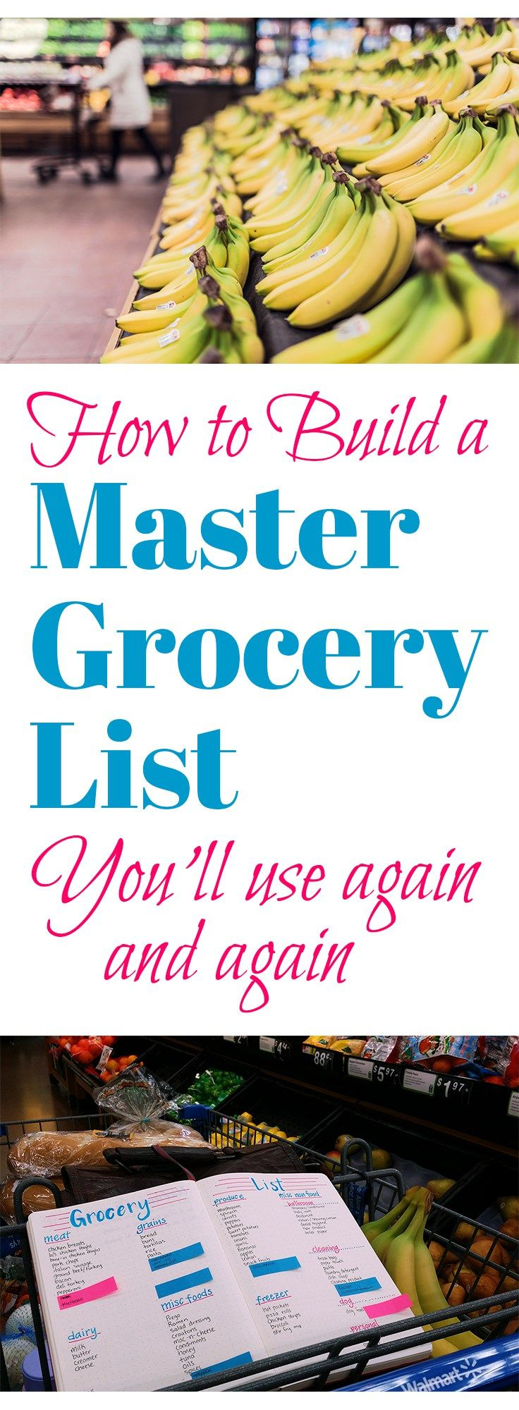 Grocery shopping is always a drag for me, so I found a way to make it a bit cheerier and a ton more efficient with the Master Grocery List!