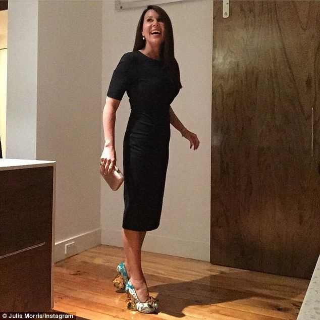 Bounce to her step:Julia Morris certainly kept everyone on their toes when she arrived at...