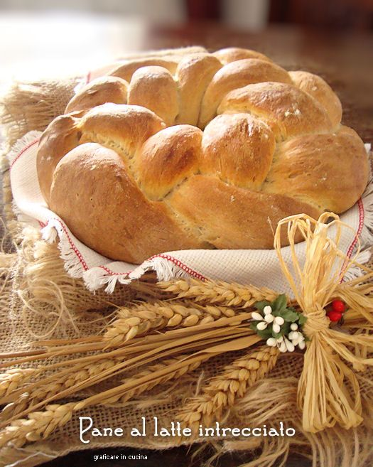 Pane al latte intrecciato