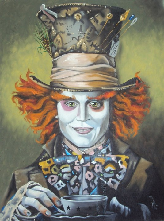 The Mad Hatter in his Mad Hat bustin mad Raps