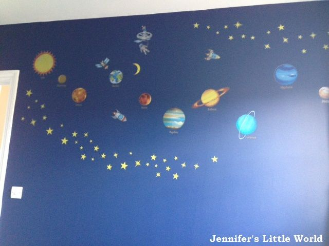 space themed bedroom solar system stickers