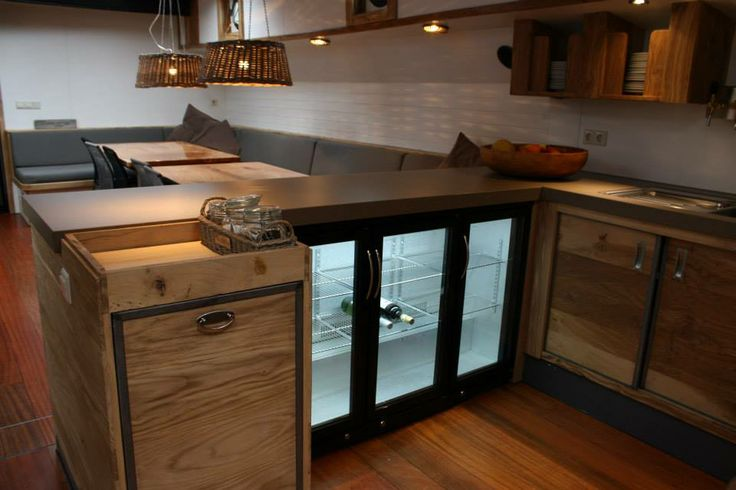 The refrigerate on sailing vessel Wilhelmina, I want this in my dream kitchen.