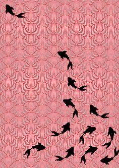 Motif Koi, par Choomi Kim, via Bechance Progression, geste, courbes, trajectoire, douceur dynamique.