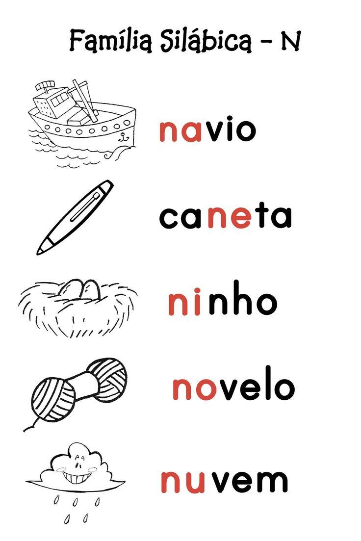 O Mundo da Alfabetização: Silabário - M e N