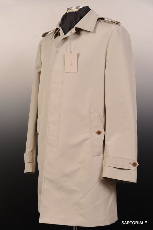 BRIONI Tan Rain Jacket Trench Coat EU M NEW US 38 40 BRIONI Tan