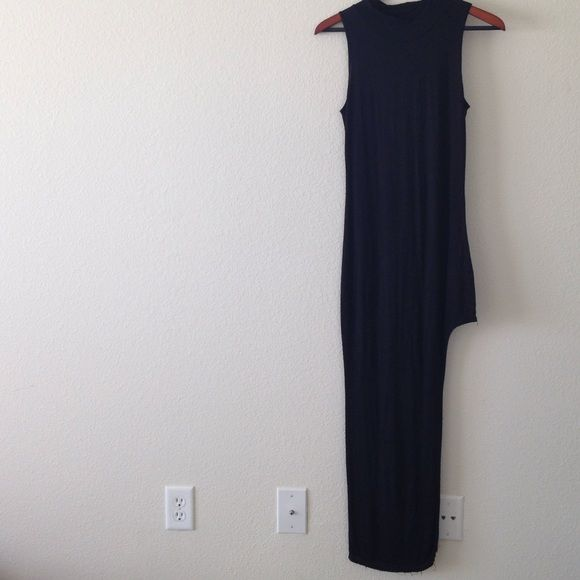 """Sexy long tight Black dress with slit The perfect little black dress fits snug and the length is perfect  for any size. I'm 5""""2 and it fits great with heels Dresses Maxi"""