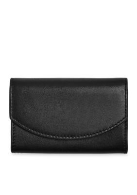 Skagen Black Radio Frequency Identification Flap Card Case