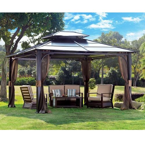 Unique Wooden And Pop Up Garden Gazebo Canopy Ideas Plans Kits With Lights