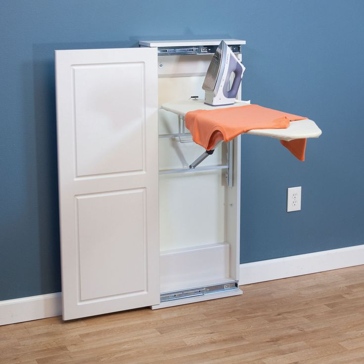Household Essentials Iron 'n Fold Cabinet Ironing Board is the easy-to-use, easy-to-install standing ironing board that you put away without hassle or fuss. Thi