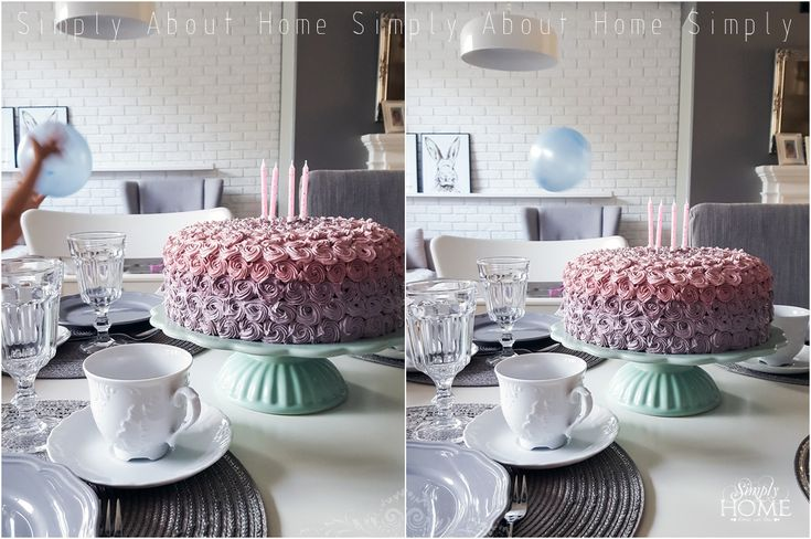 simply about home: Urodzinowy tort ombre rose DIY #cake #ombre #diy