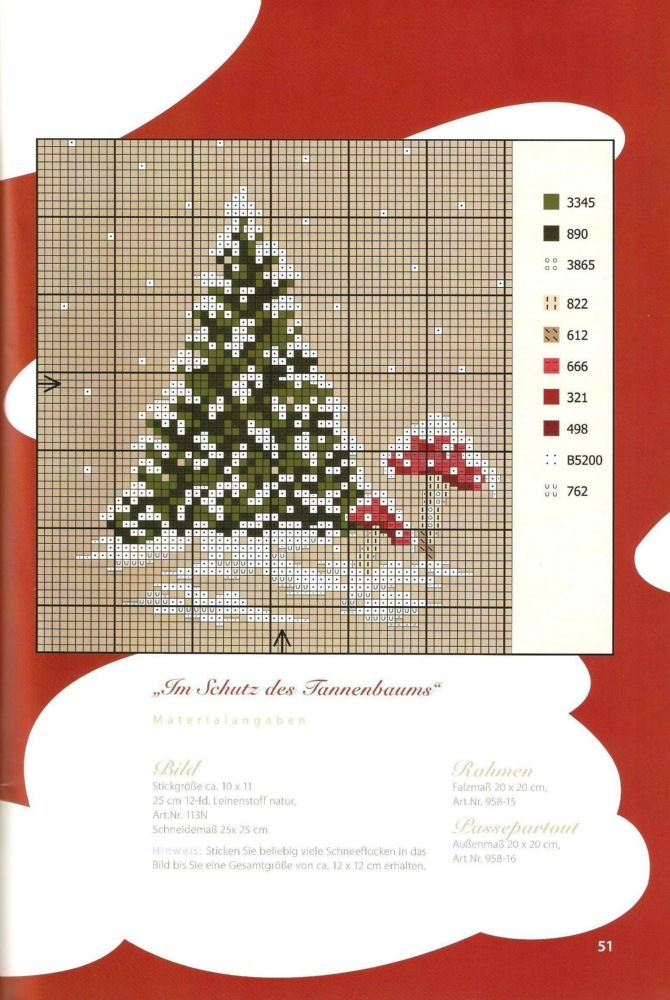 """Wintery cross-stitch pattern -- when I clicked on """"website"""" it wouldn't open it. But this would be easy enough to create from the picture alone."""